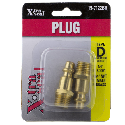 Group 31 Xtra Seal  15-7122BR - 1/4in Indus Plug 1/4in Mpt Brass