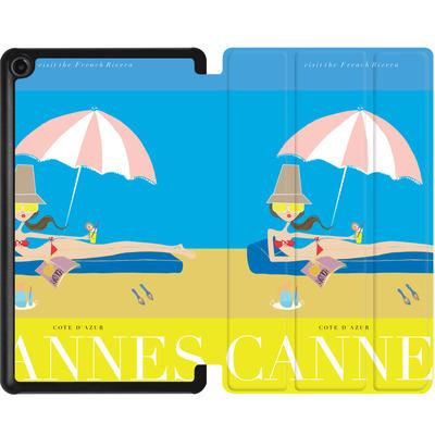 Amazon Fire 7 (2017) Tablet Smart Case - CANNES TRAVEL POSTER von IRMA