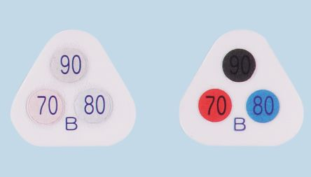Asei Kougyou Temperature Sensitive Label, 70°C to 90°C, 3 Levels