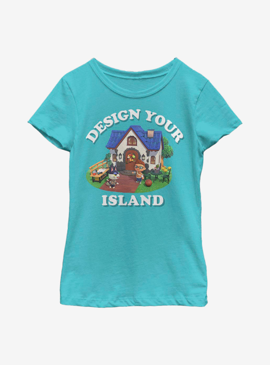 Animal Crossing: New Horizons Design Your Island Youth Girls T-Shirt