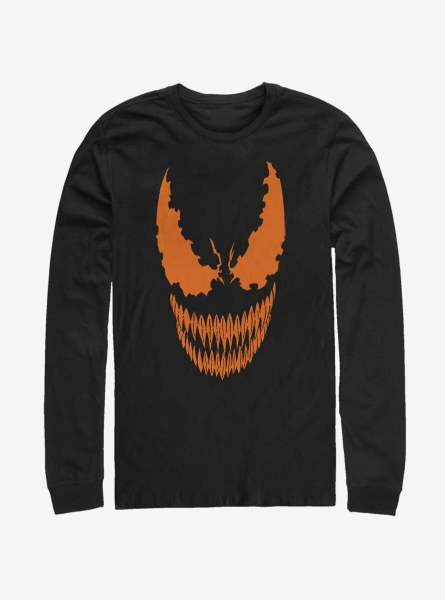 Marvel Venom Pumpkin Orange Face Long-Sleeve T-Shirt