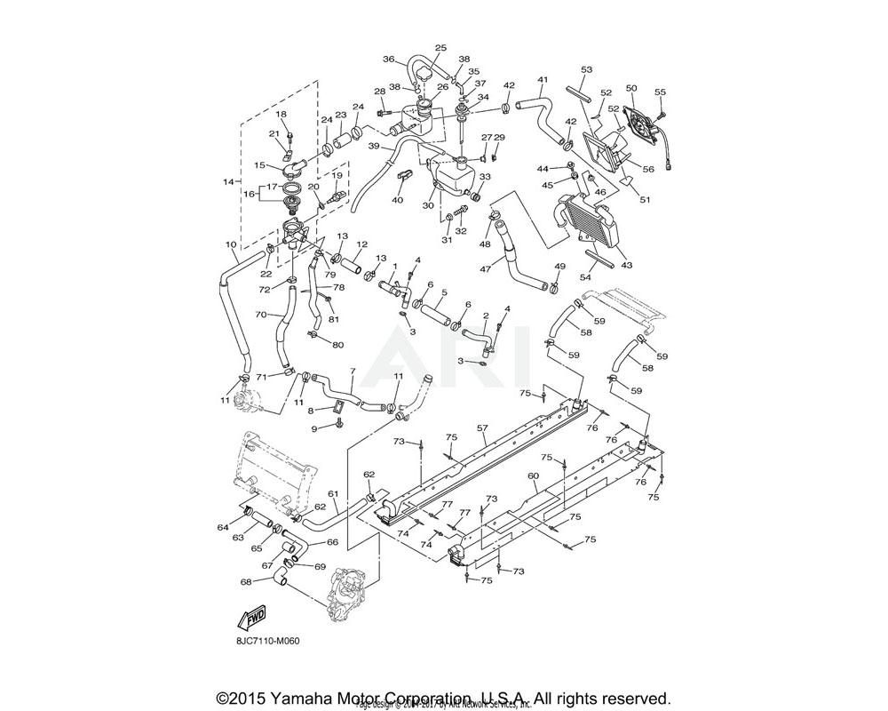 Yamaha OEM 90267-48015-00 RIVET, BLIND