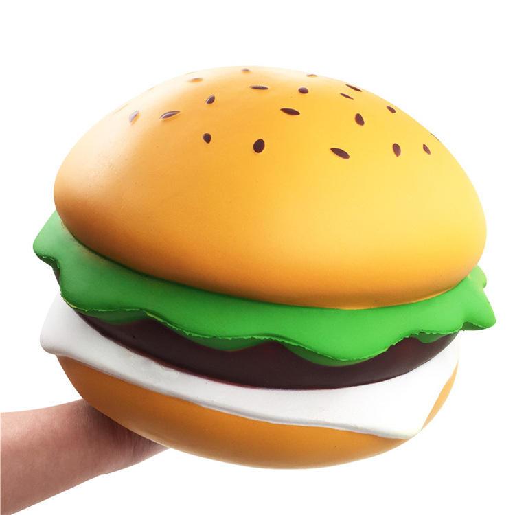 Giant Squishy Cheese Burger Humongous Hamburger 25CM Slow Rising Rebound Jumbo Gift Collection Decor Toys