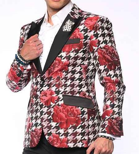 Mens Cheap Fashion big and tall Plus Size Blazer For Guys Red