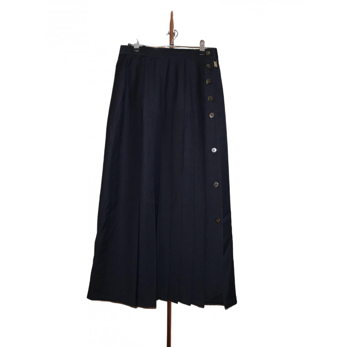 Aigner \N Navy Wool skirt for Women 38 FR