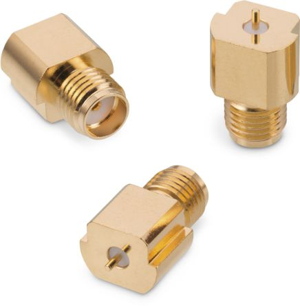Wurth Elektronik , WR-SMA Straight Surface Mount Coaxial Connector, jack, Gold over Nickel, Solder Termination (500)