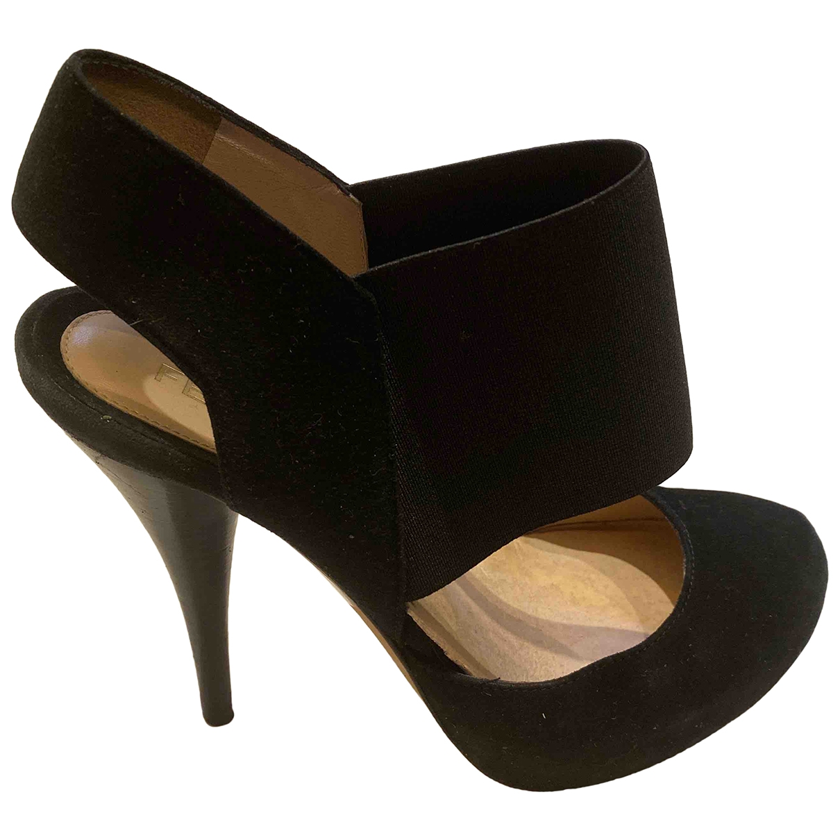 Fendi \N Black Suede Heels for Women 36 EU