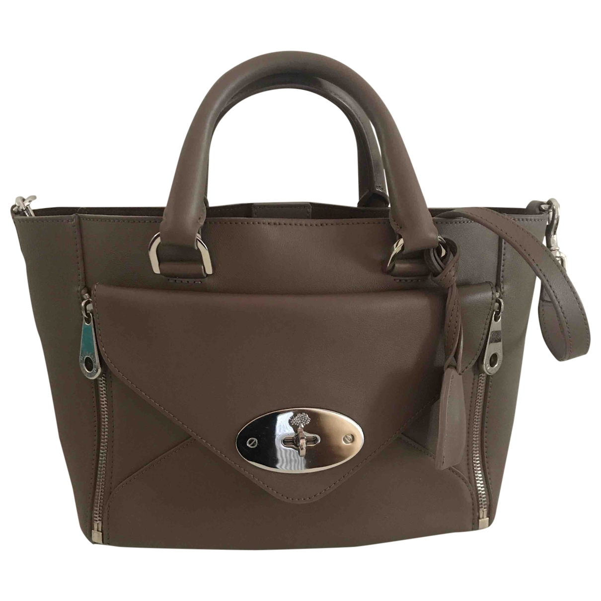 Mulberry Willow Grey Leather handbag for Women \N