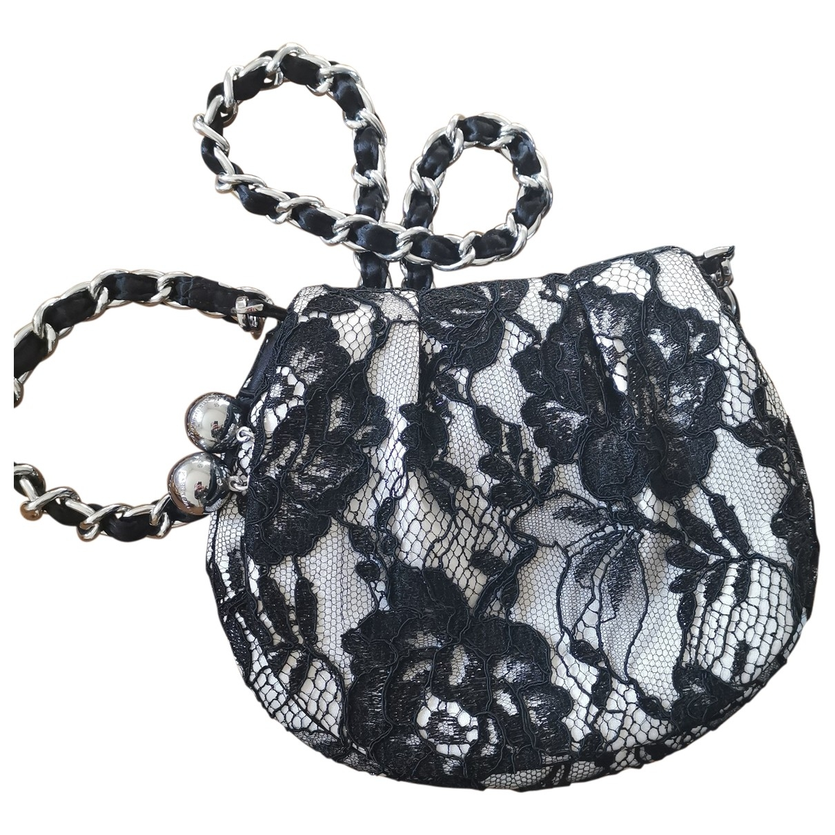 Karen Millen - Pochette   pour femme en soie - noir