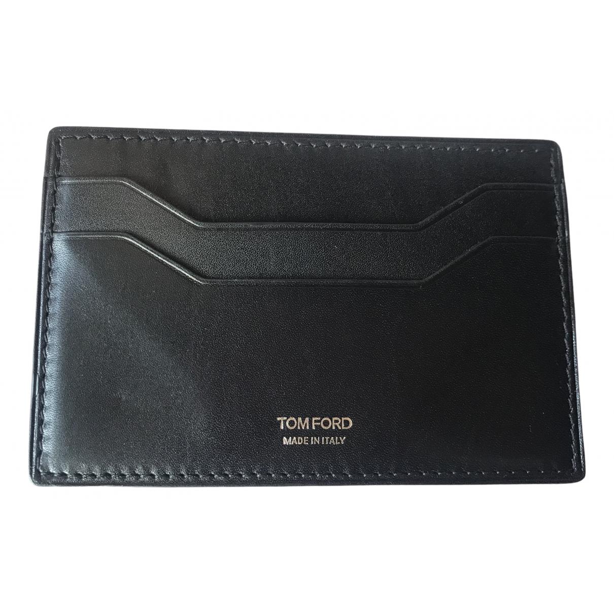 Tom Ford \N Kleinlederwaren in  Schwarz Leder