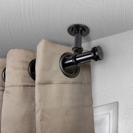 Rod Desyne Bun Ceiling Curtain Rod, One Size , Black