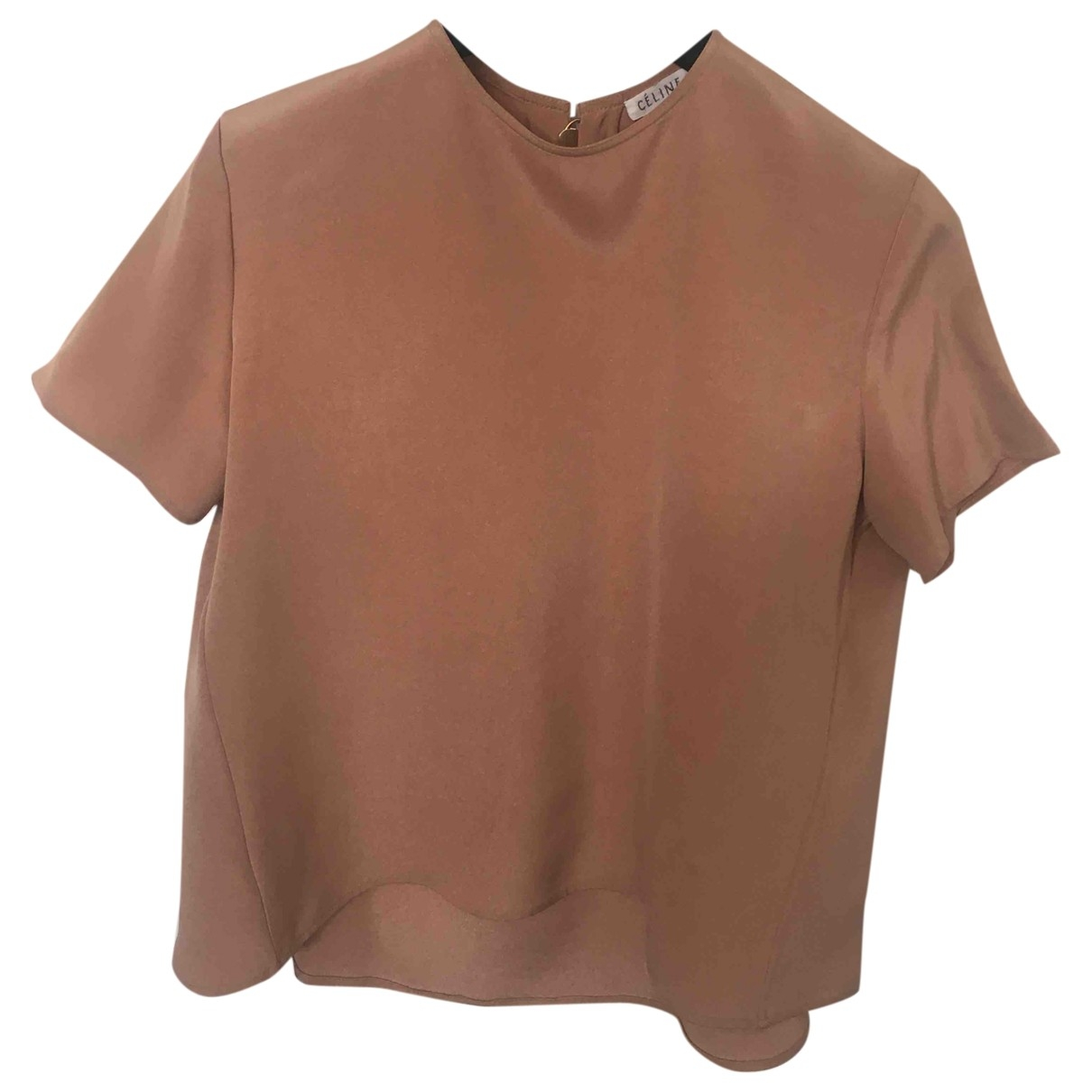 Celine - Top   pour femme en soie - camel