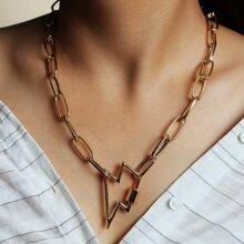 Lightning Decor Chain Necklace