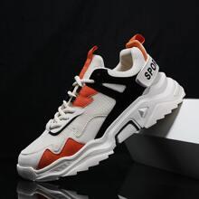 Maenner Sneakers mit Farbblock