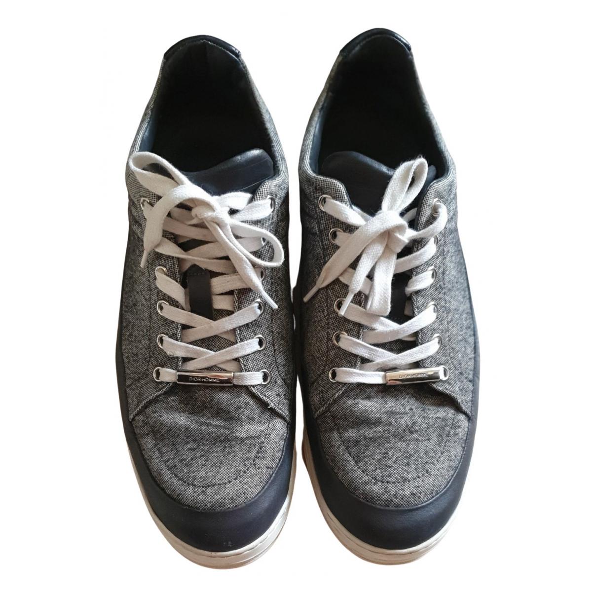 Dior Homme - Baskets   pour homme en toile - gris