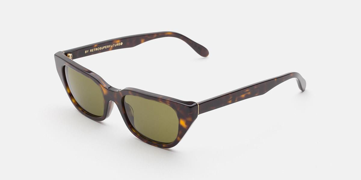 Retrosuperfuture CENTO 3627 GREEN IQ6C IHU Men's Sunglasses Tortoise Size 51