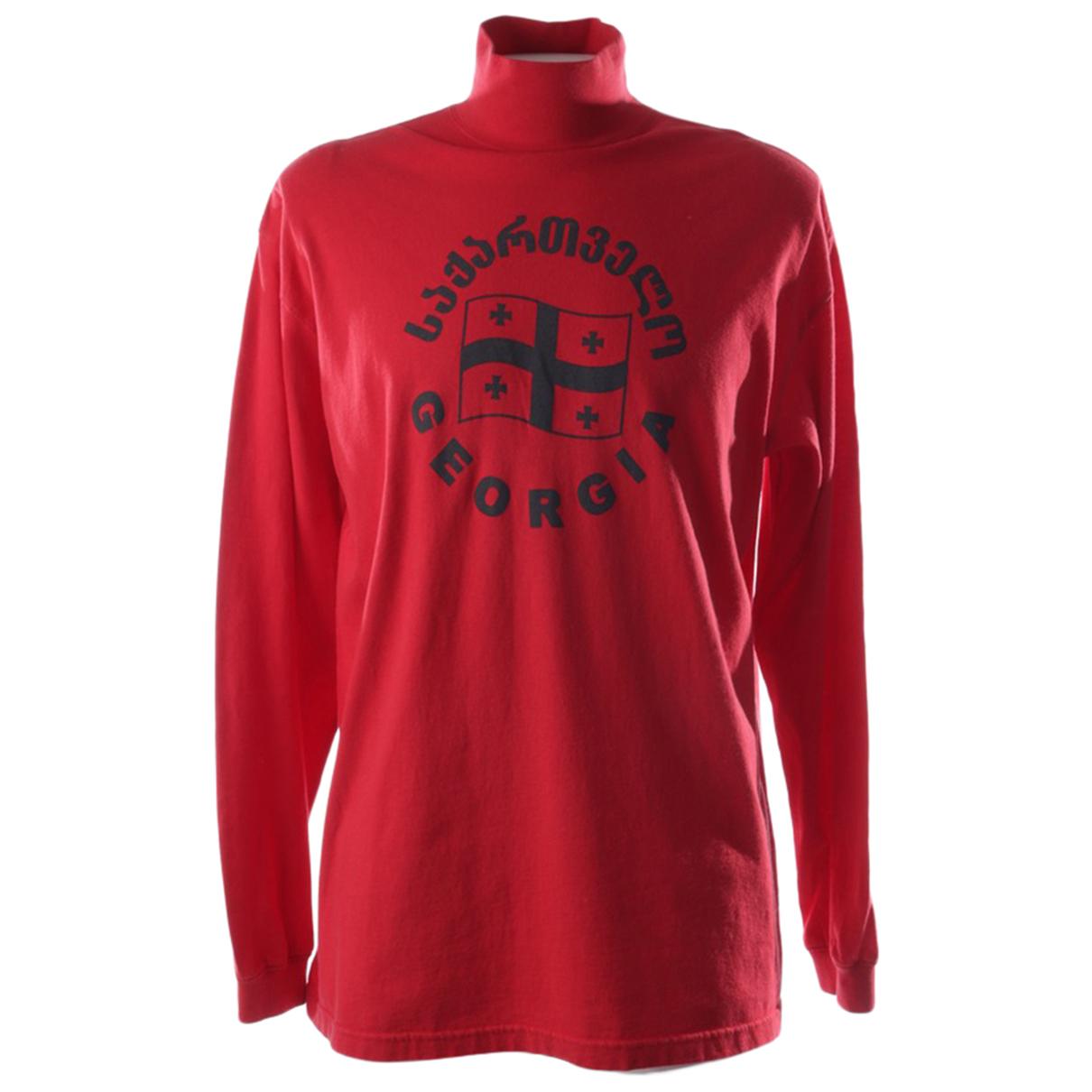 Vetements \N Pullover in  Rot Baumwolle