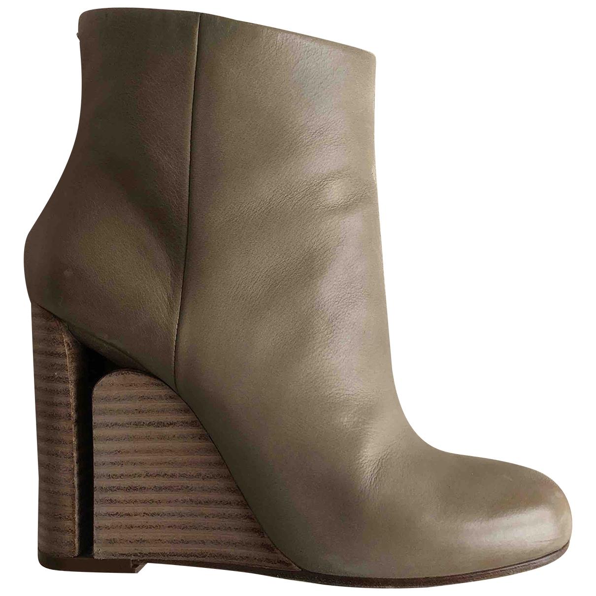 Maison Martin Margiela - Boots   pour femme en cuir - beige