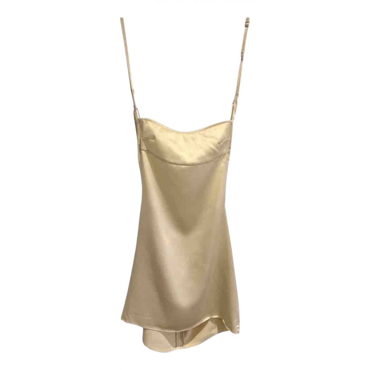 Are You Am I \N Kleid in  Beige Seide