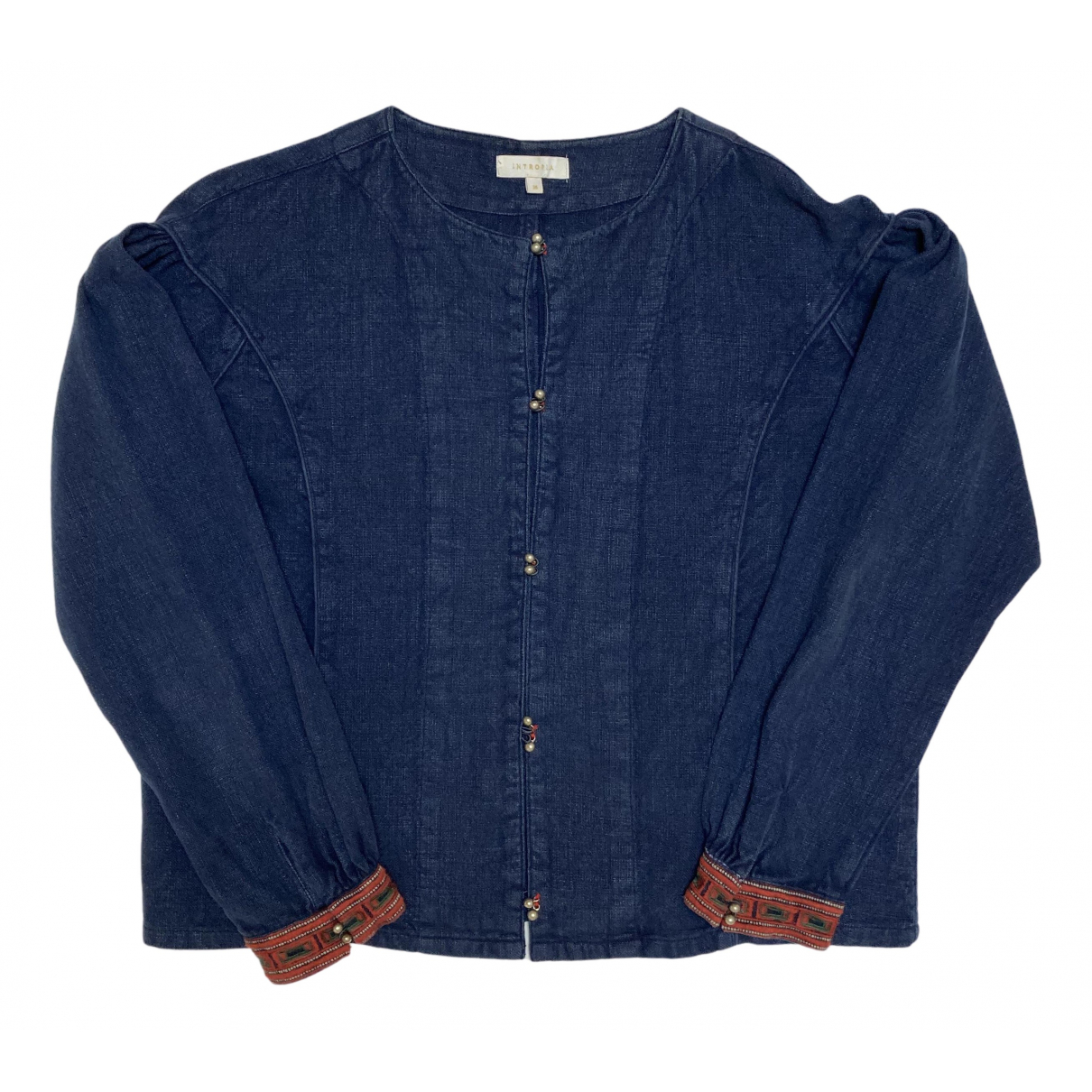 Hoss Intropia - Blouson   pour femme en coton - bleu
