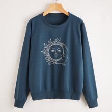 Sun & Moon Graphic Sweatshirt