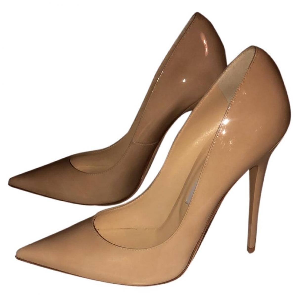 Jimmy Choo Anouk Beige Patent leather Heels for Women 40.5 EU