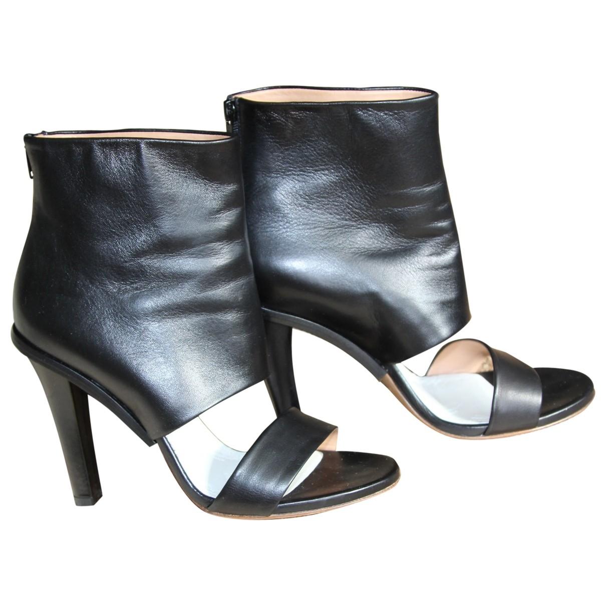 Maison Martin Margiela \N Black Leather High Heel for Women 37 EU