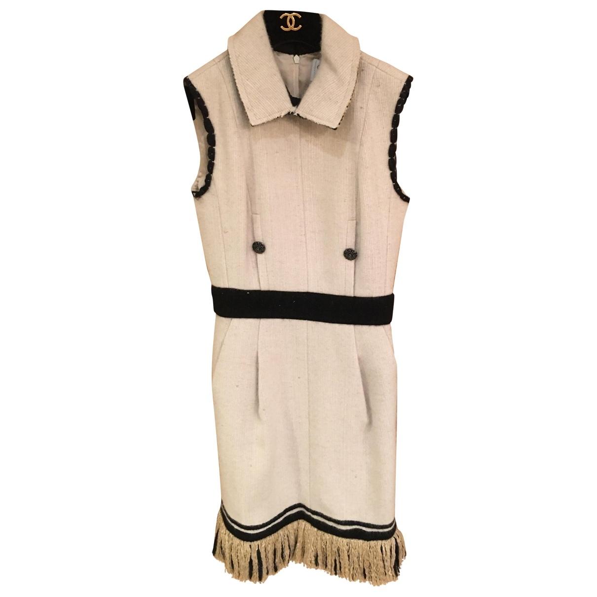 Chanel \N Kleid in  Ecru Kaschmir