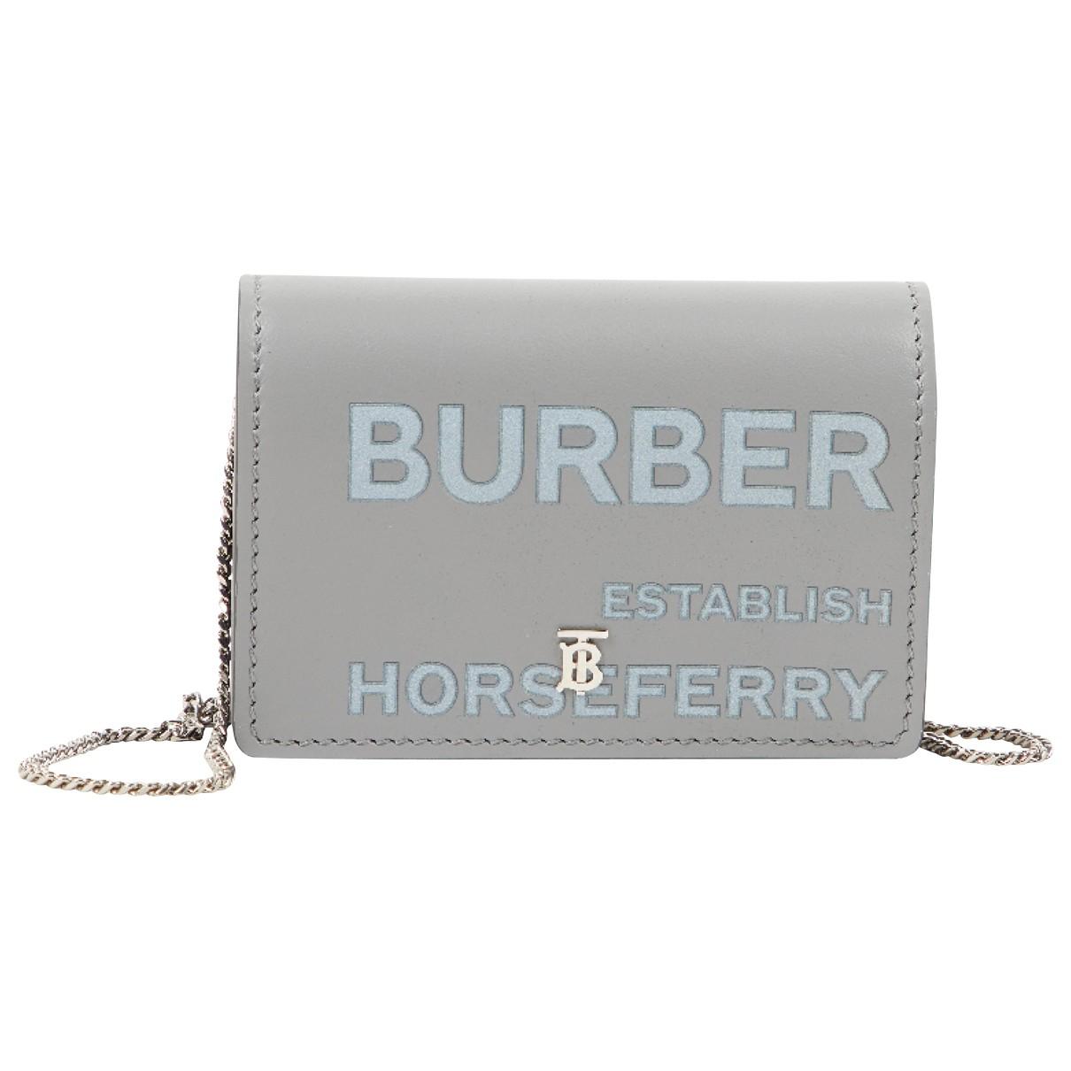 Burberry \N Kleinlederwaren in  Grau Leder