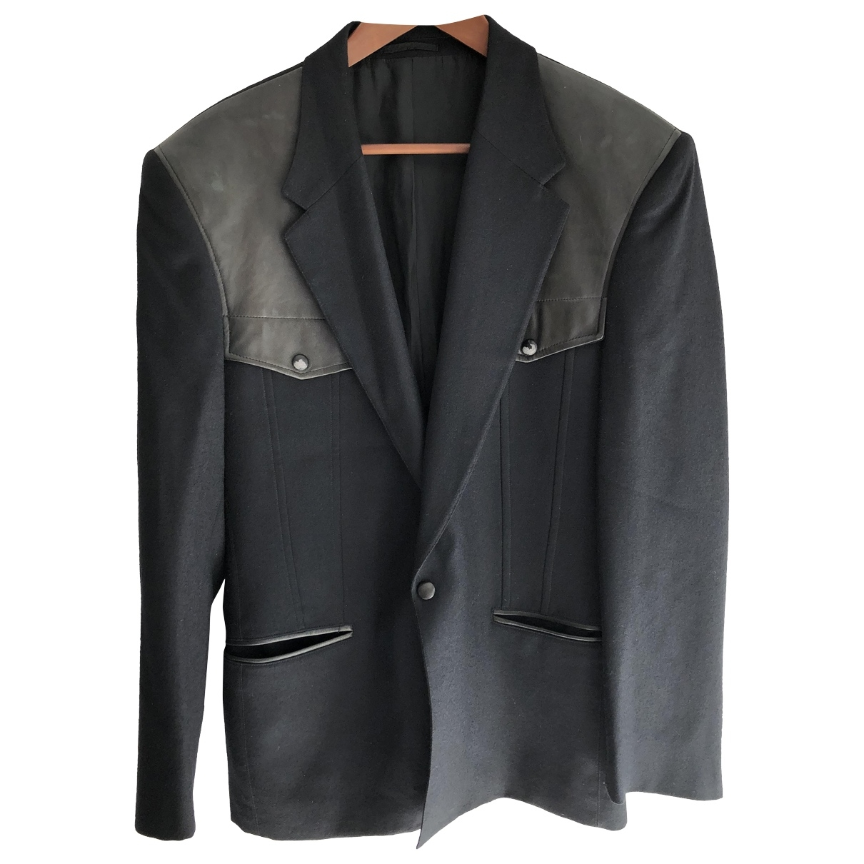 Claude Montana \N Black jacket  for Men 48 IT