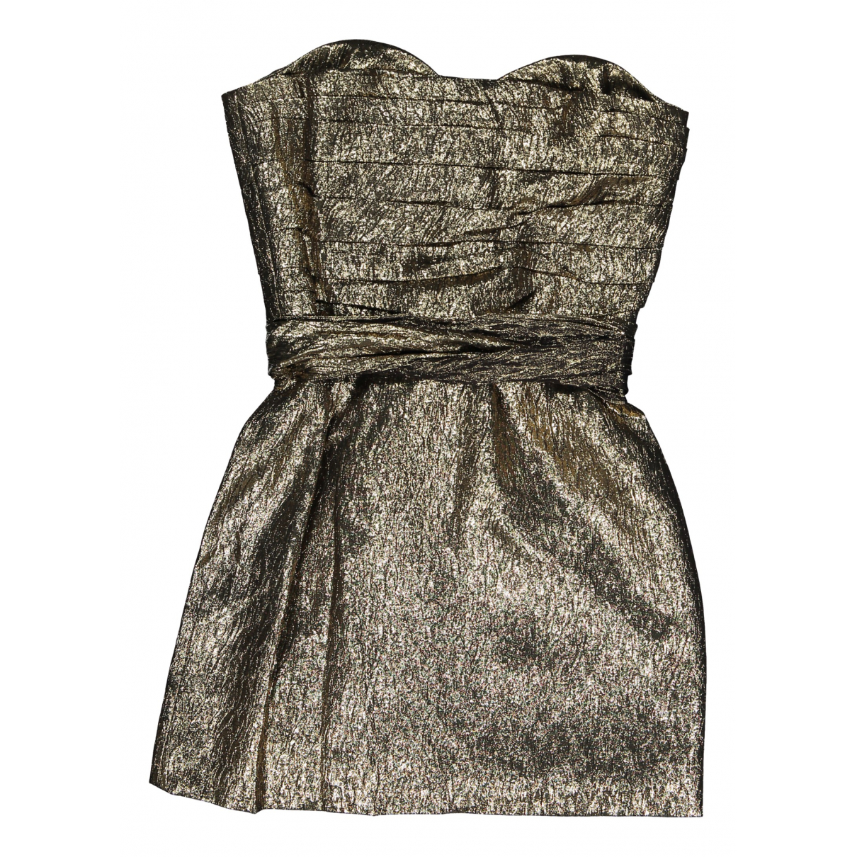 Saint Laurent N Gold Silk dress for Women 38 FR