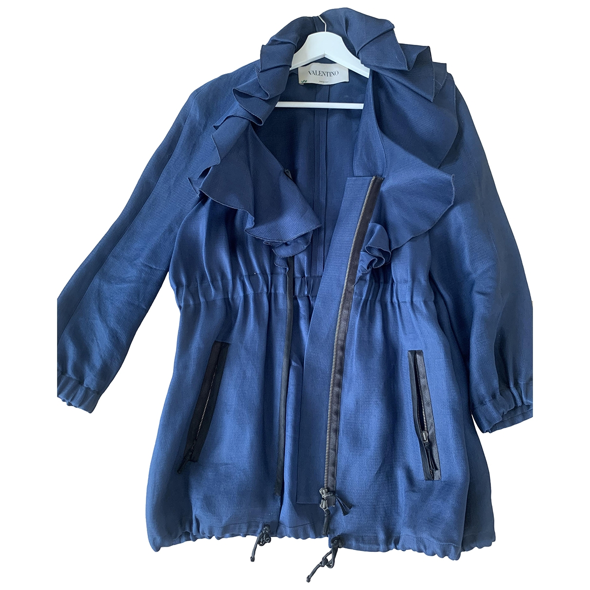 Valentino Garavani \N Blue Silk jacket for Women 12 US