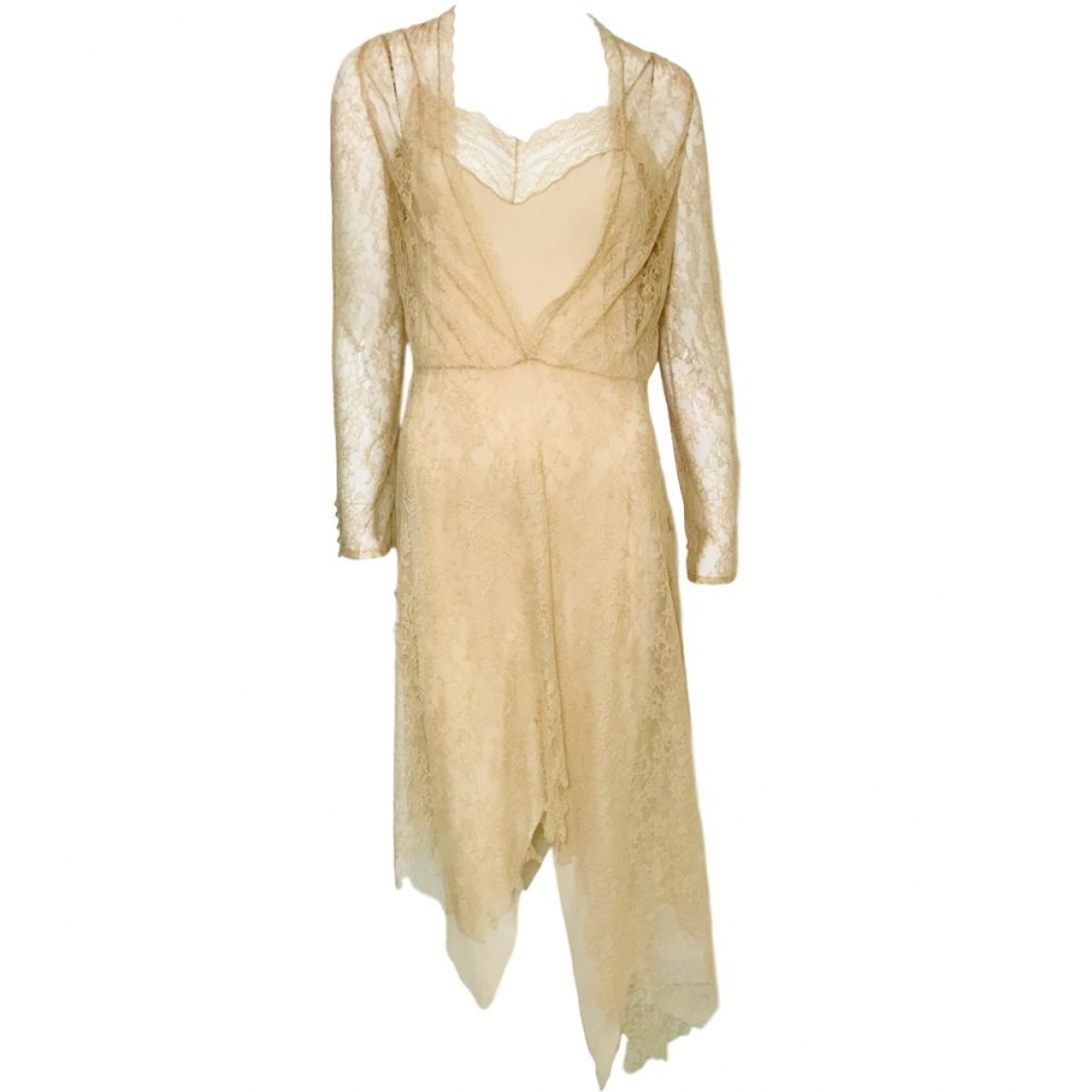 Givenchy \N Kleid in  Beige Synthetik