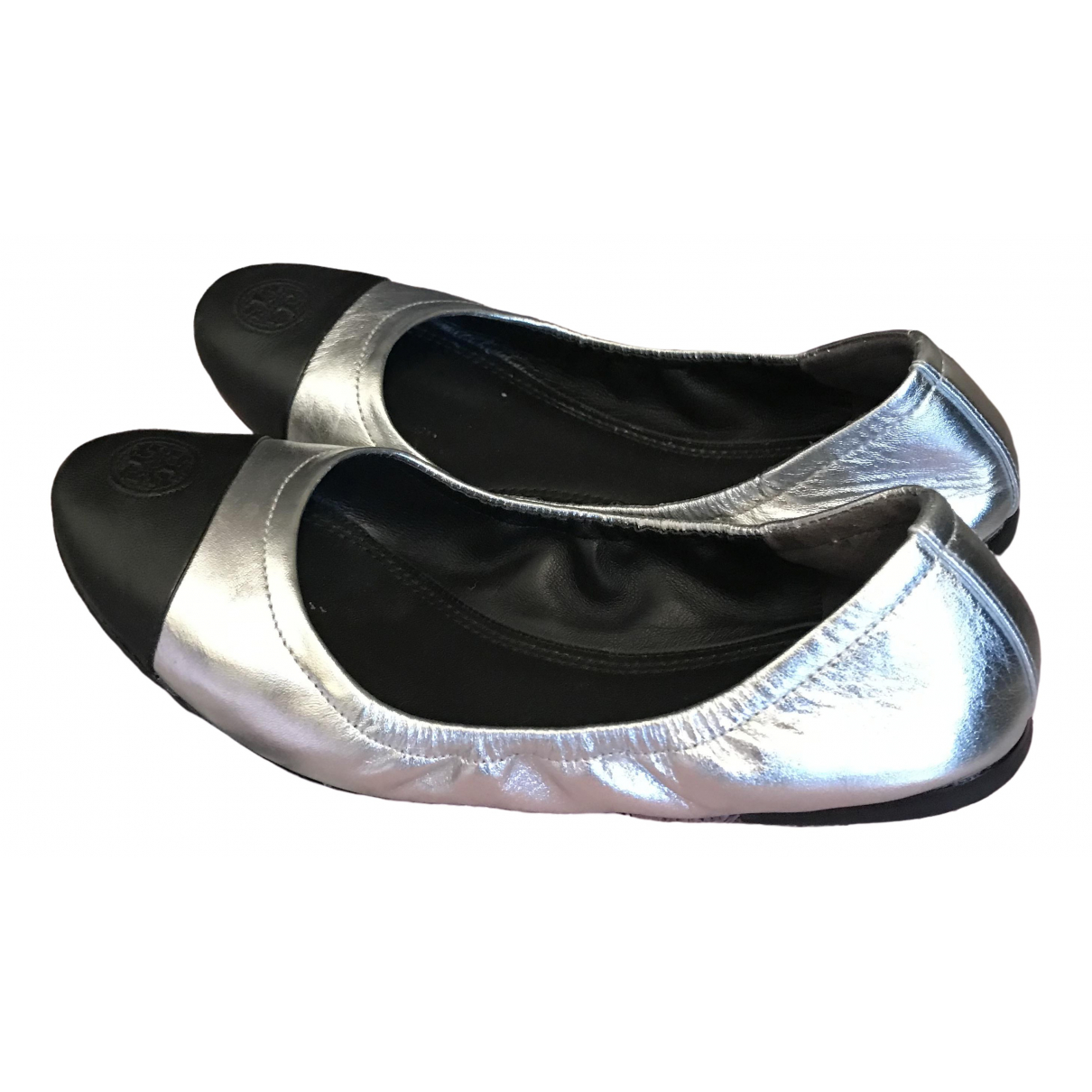 Tory Burch \N Silver Leather Ballet flats for Women 36.5 EU
