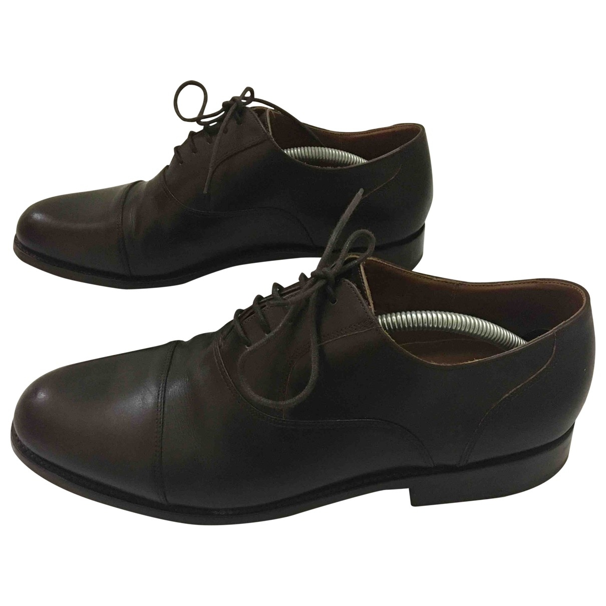 Non Signé / Unsigned \N Brown Leather Flats for Men 9.5 UK