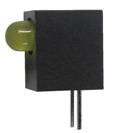 Kingbright L-93A8CB/1YD, Yellow Right Angle PCB LED Indicator, Through Hole 2.5 V (20)