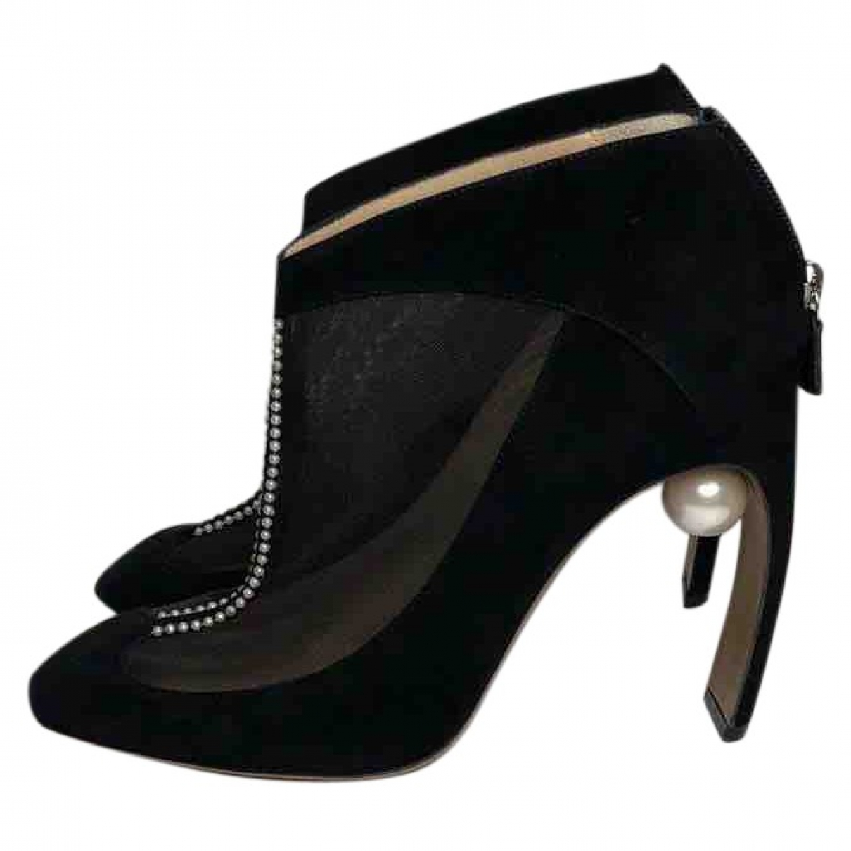 Nicholas Kirkwood \N Black Suede Ankle boots for Women 40.5 EU