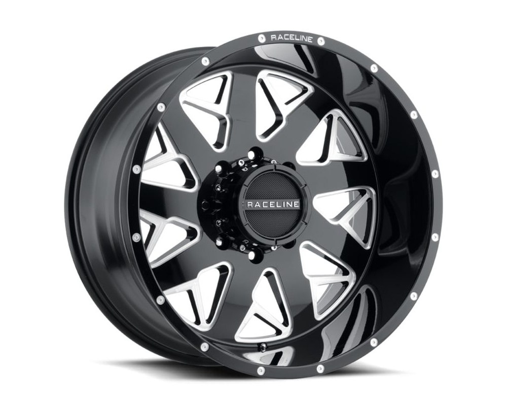 Raceline 939M Disruptor Gloss Black Milled Wheel 22X12 6X139.7 -44mm