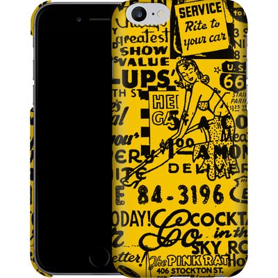 Apple iPhone 6s Plus Smartphone Huelle - ROUTE 66 Pin-Up Pattern Yellow von ROUTE 66