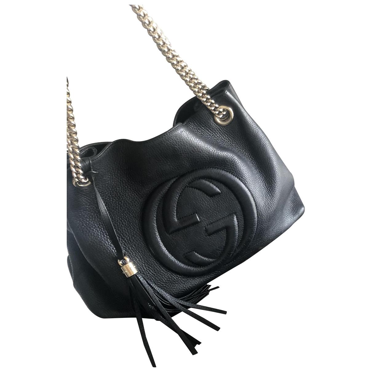 Gucci Soho Handtasche in  Schwarz Leder