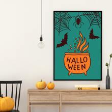 Leinwandbild mit Halloween Muster ohne Rahmen