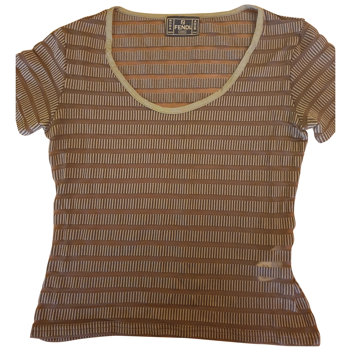 Fendi \N Brown Lace  top for Women 38 FR