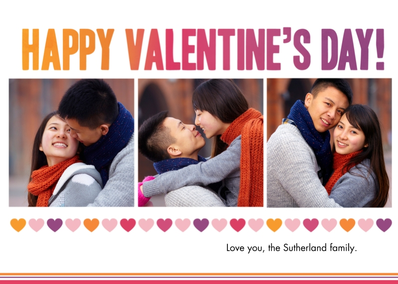 Valentine's Cards 5x7 Folded Cards, Standard Cardstock 85lb, Card & Stationery -Valentine's Gradient