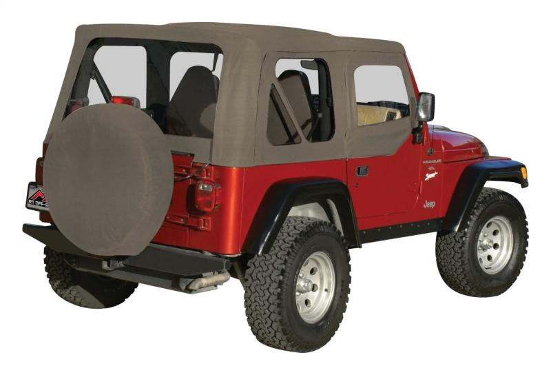 RT Offroad RT10336 Khaki OEM Replacement Soft Top for 1997-06 TJ Wrangler w/ Soft Upper Doors Jeep 1997-2006