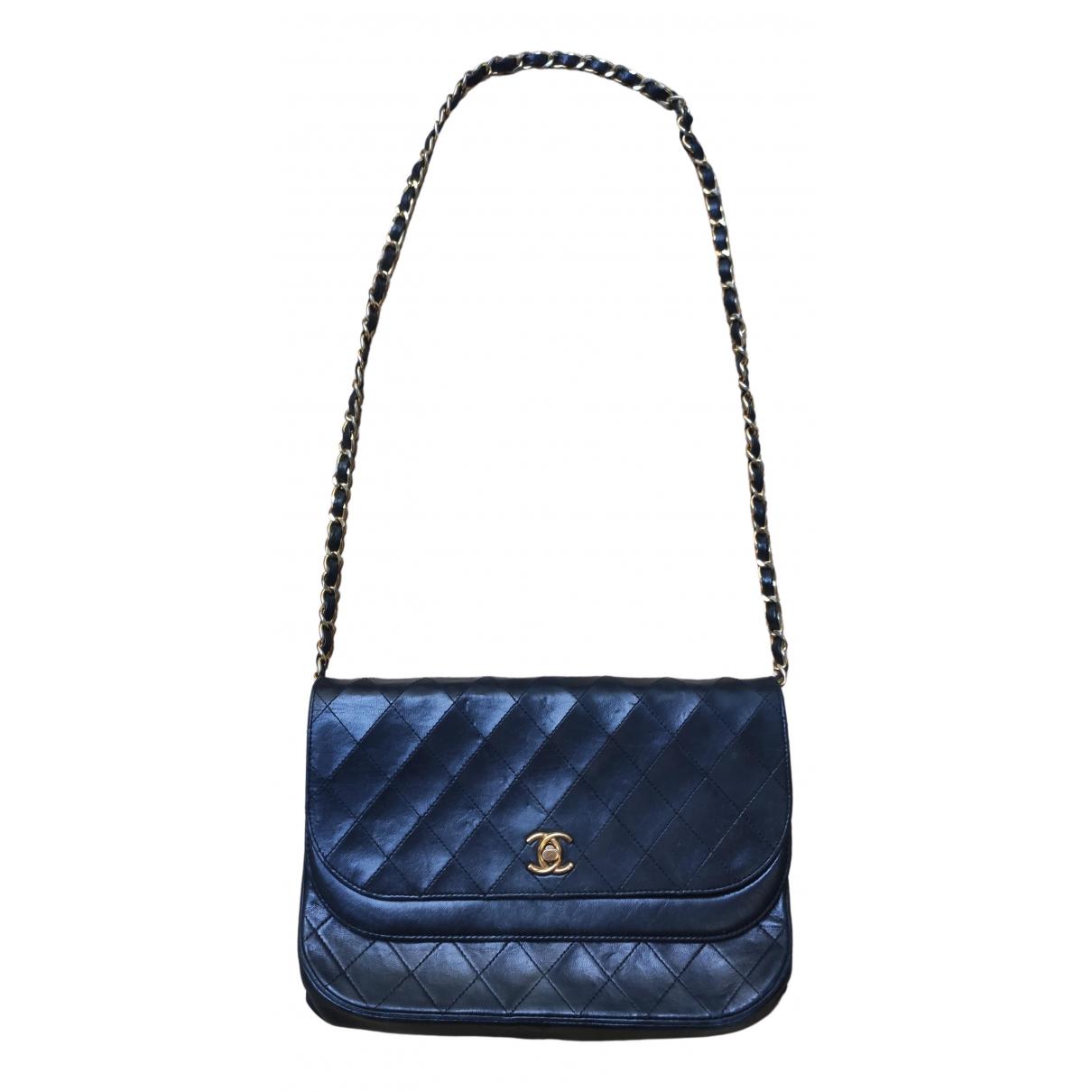 Chanel 31 Vintage  Black Leather handbag for Women N