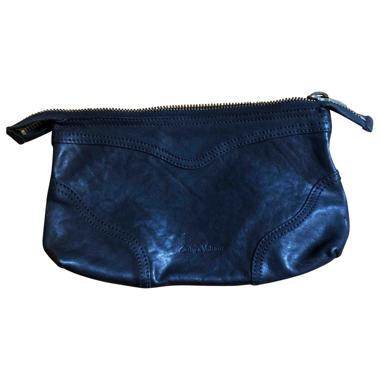 Zadig & Voltaire \N Black Leather Clutch bag for Women \N