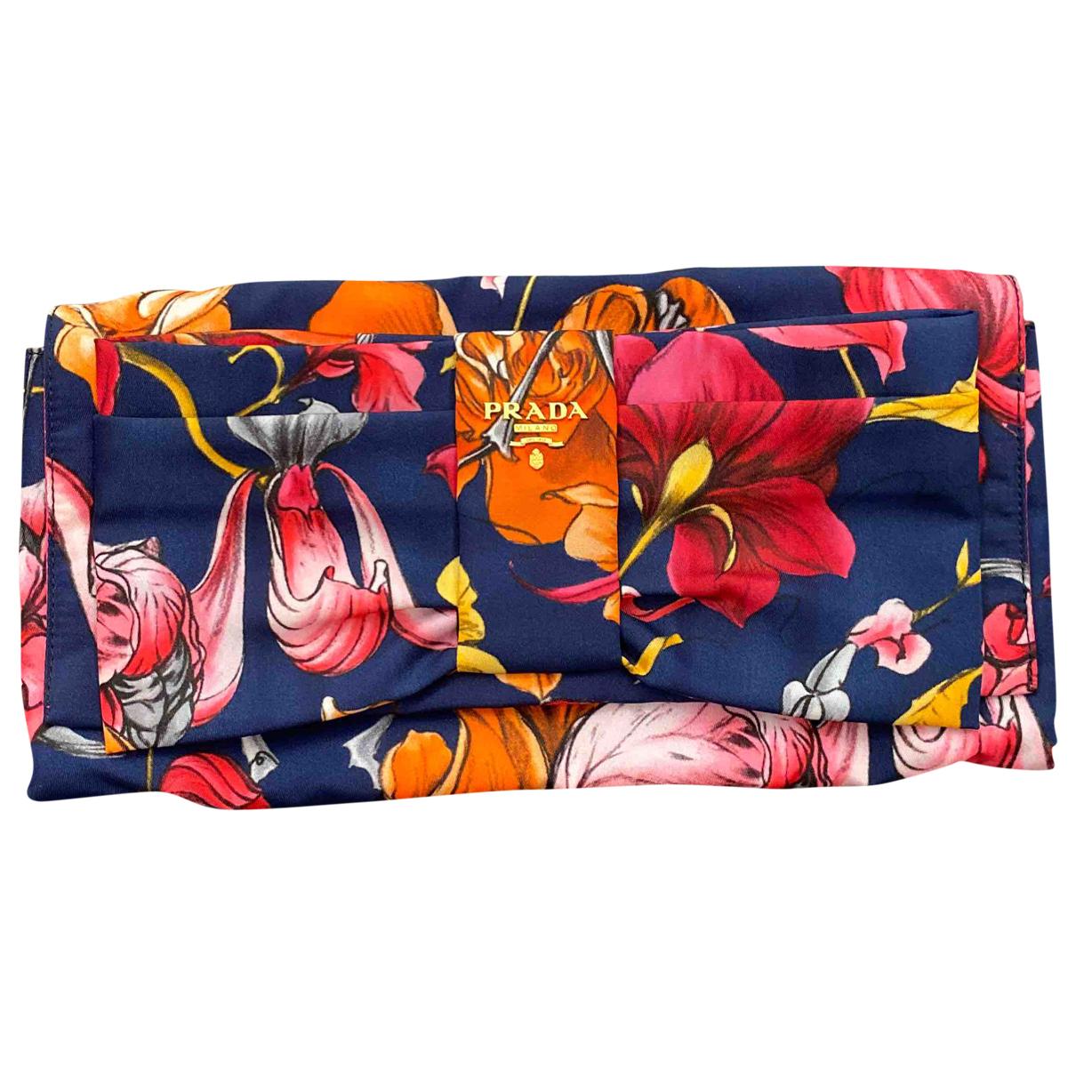 Prada \N Blue Cloth Clutch bag for Women \N