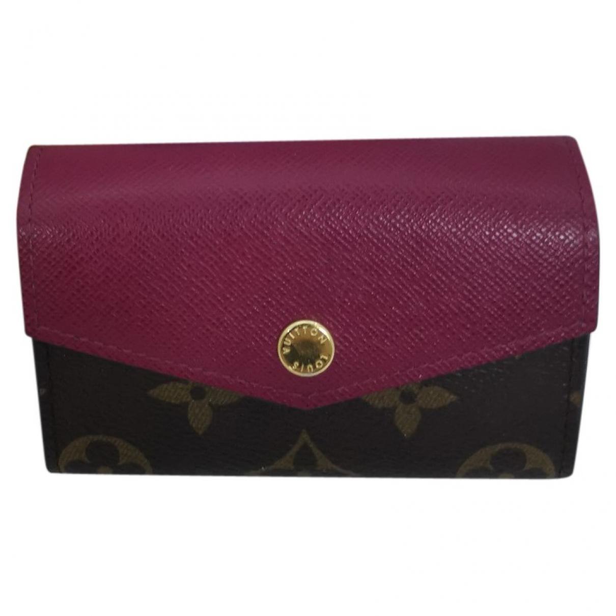 Louis Vuitton Zoé Purple Cloth Purses, wallet & cases for Women \N