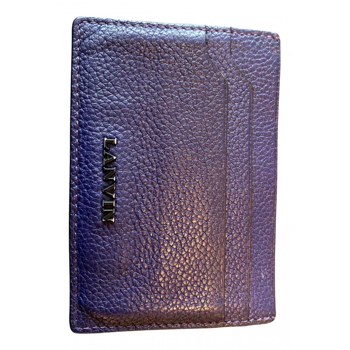 Lanvin - Petite maroquinerie   pour femme en cuir - bleu