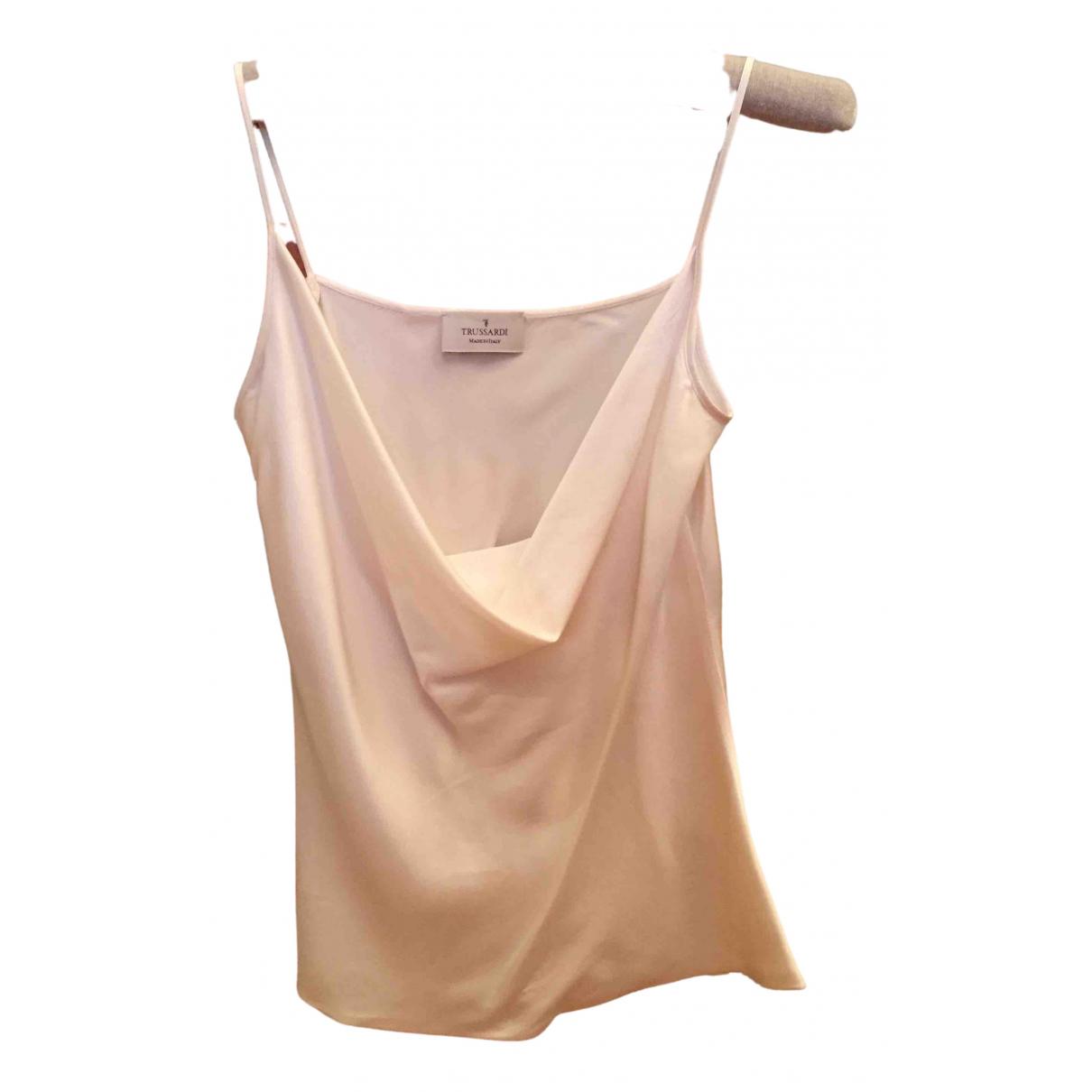 Trussardi - Top   pour femme en soie - blanc